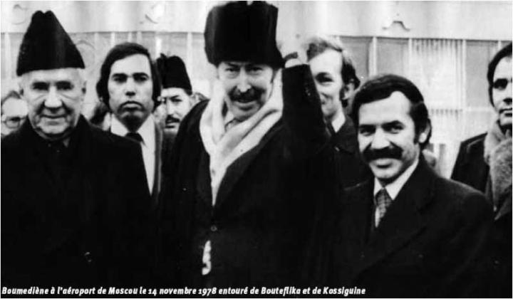 Le Président Boumédiene à Moscou