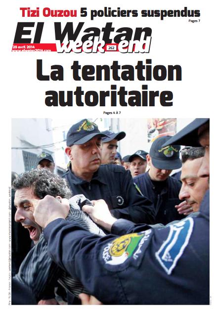 Journal El Watan, 25 avril 2014